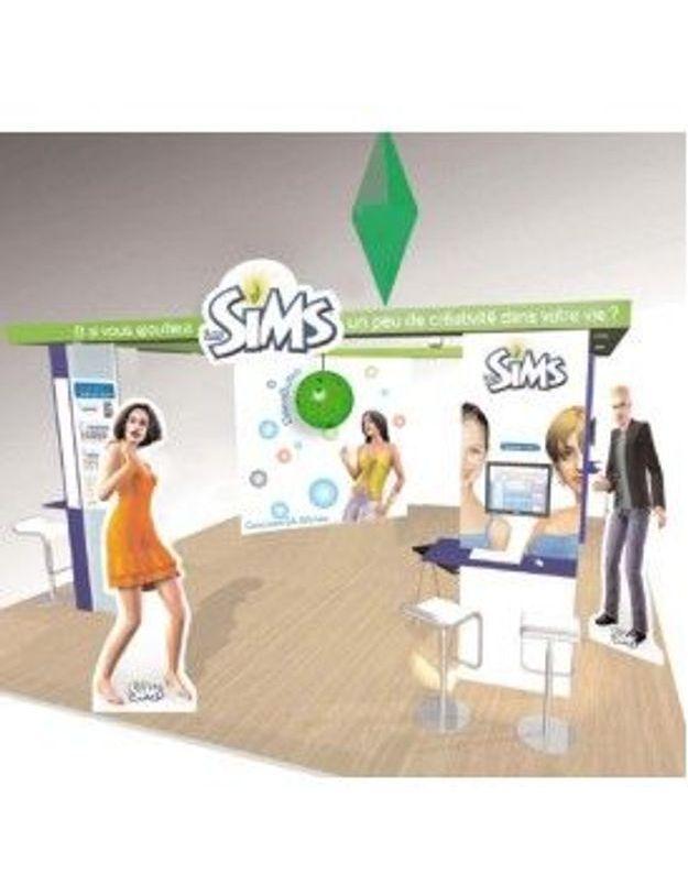 Les Sims à la foire de Paris