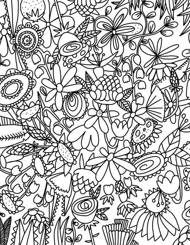 #MonColoriageELLE : Flower power !