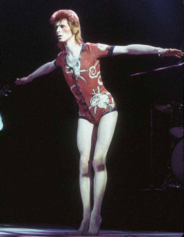 Ziggy Stardust en petite tenue en 1973