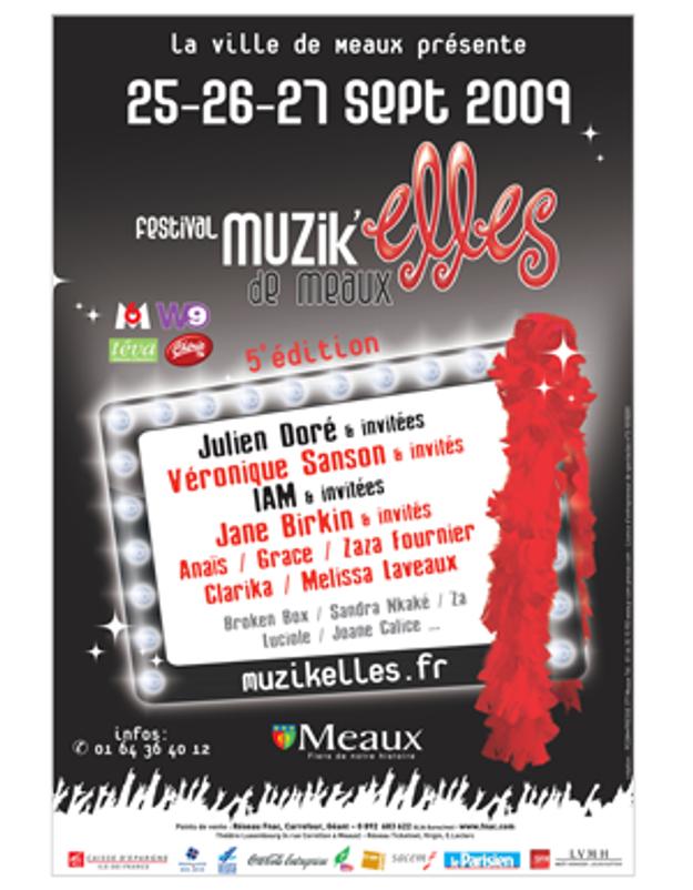 Julien Doré et Cindy Sanders sur scène aux Muzik'Elles