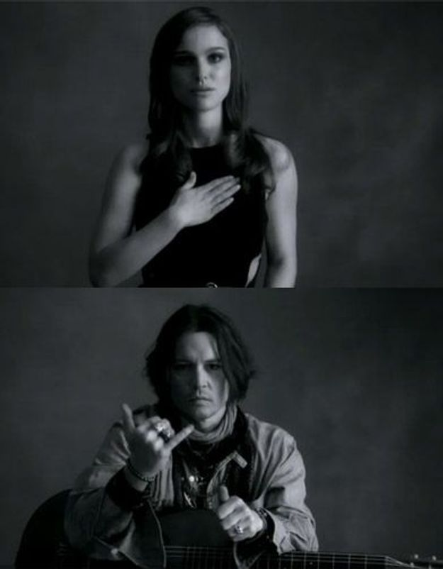 Natalie Portman et Johnny Depp dans le clip de McCartney
