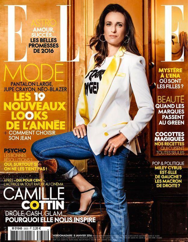 Camille Cottin en couverture de ELLE cette semaine