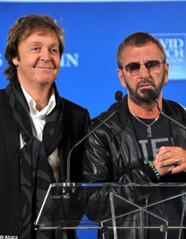 Paul McCartney et Ringo Starr, réunis sur scène