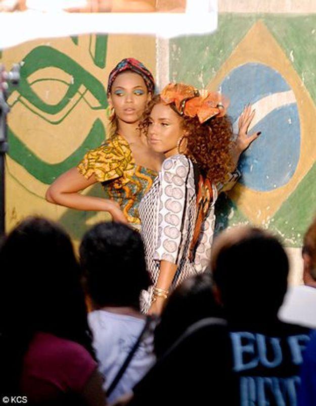 Regardez Beyonce et Alicia Keys sur le tournage de leur clip
