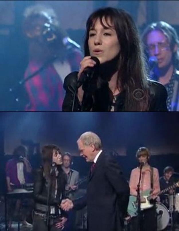 Vidéo : Charlotte Gainsbourg en live chez Letterman !