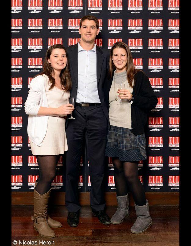 Gwendoline Deltombe, Maxime Barge et Diane De Chefdebien.