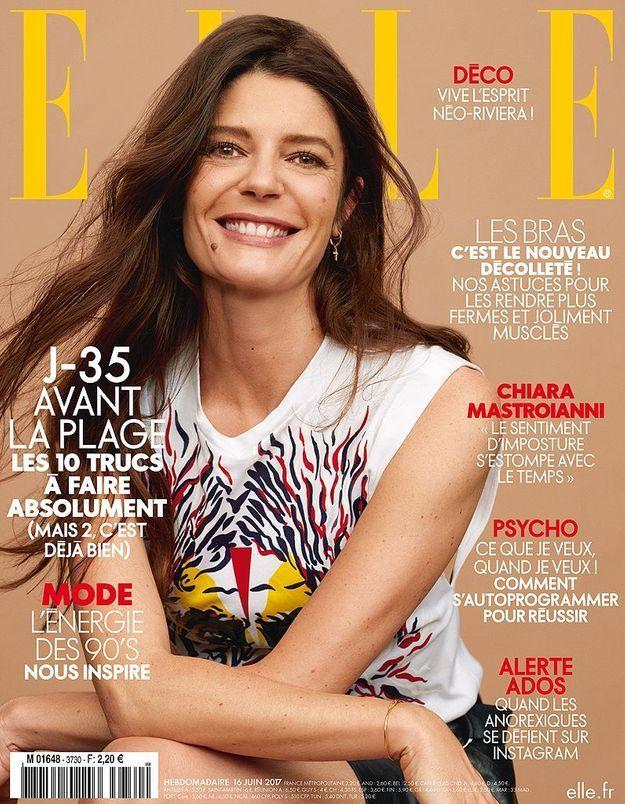 Chiara Mastroianni en couverture de ELLE cette semaine