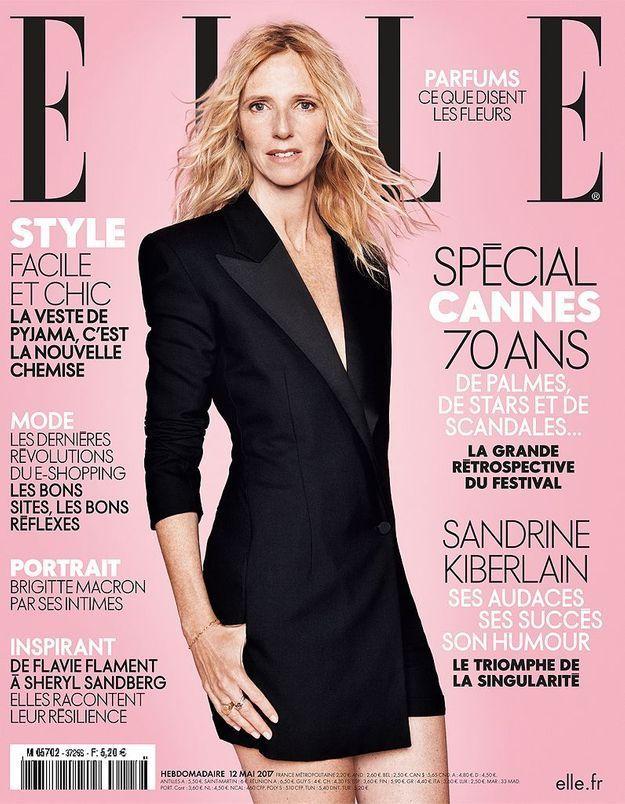 Sandrine Kiberlain en couverture de ELLE cette semaine
