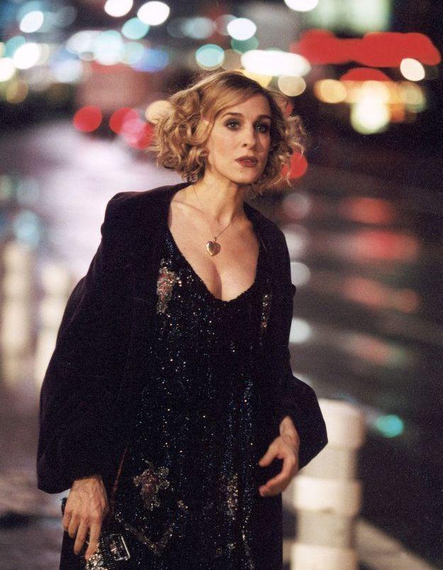 Le look glitter façon années 30 de Carrie dans Sex and the City