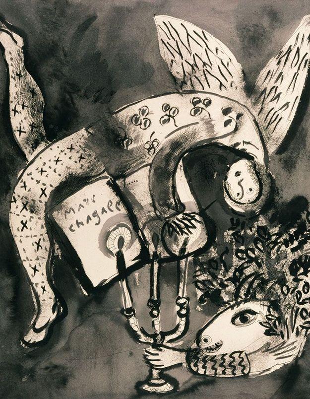 Chagall : Du noir et blanc à la couleur à l'Hôtel de Caumont (Aix-en-Provence)