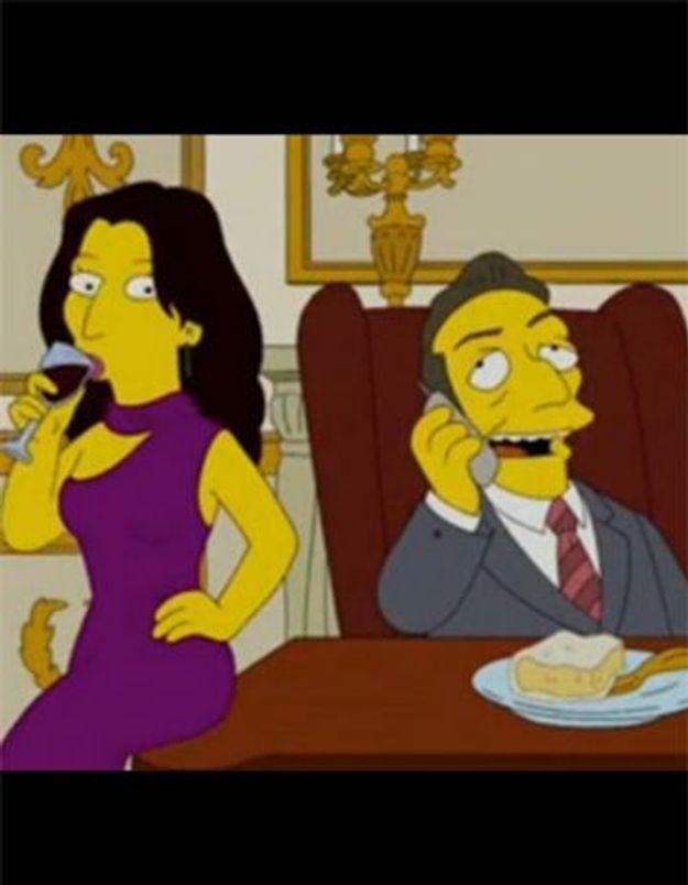 Le couple Sarkozy dans Les Simpsons