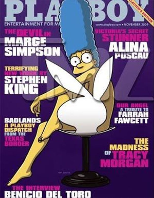 """Marge Simpson, cover-girl pour """"Playboy"""""""