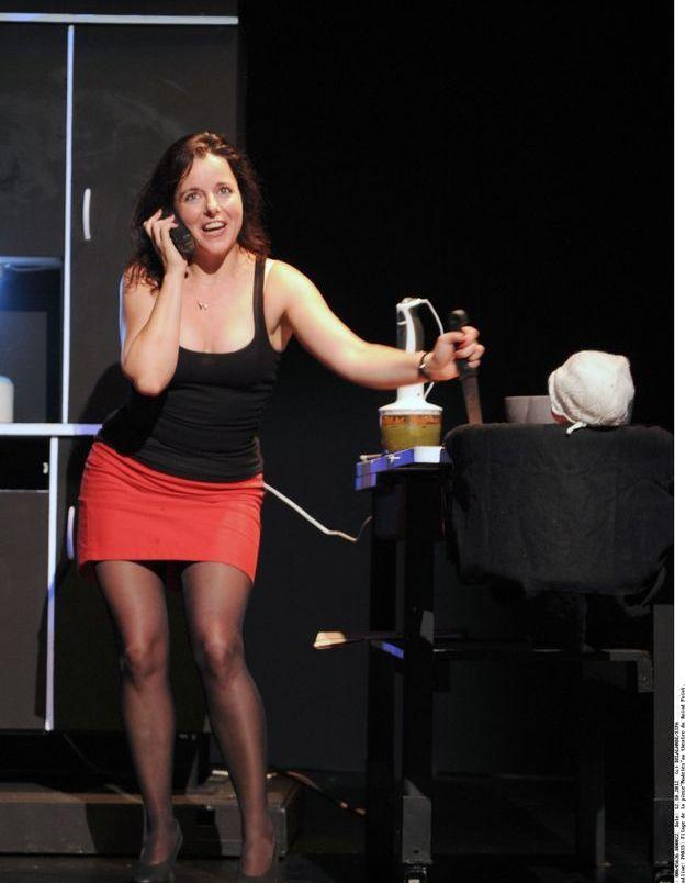 """Laure Calamy en 2012, lors du filage de la pièce """"Modèles"""""""