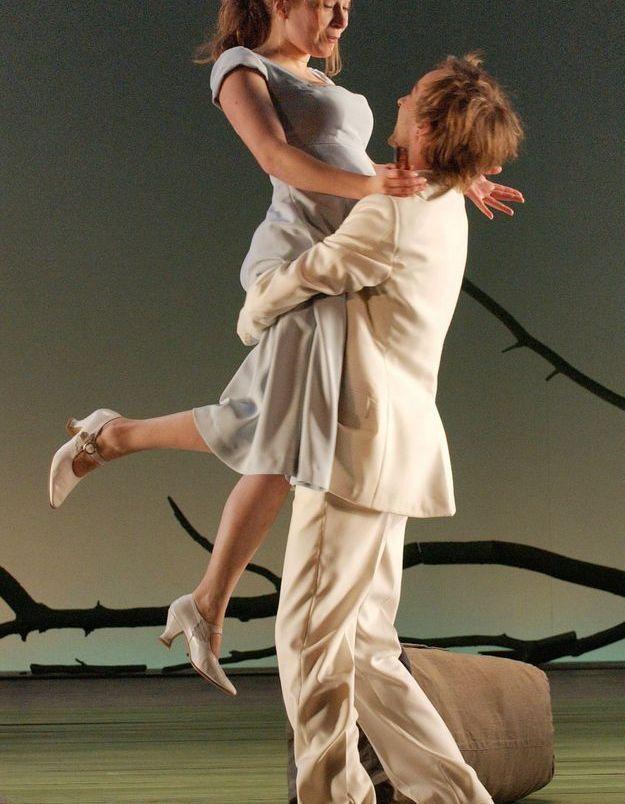 """Ophelia Kolb en 2007 dans """"La Danse du mort"""", au théâtre de La Madeleine"""