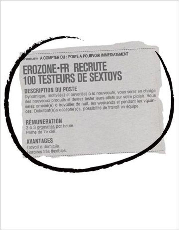 Erozone recrute des testeurs de sextoys