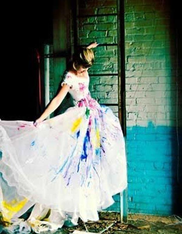 Trash the dress : la mise en scène...