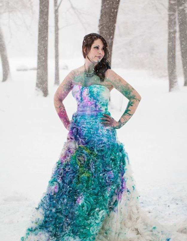 Trash the dress : même sous la neige !