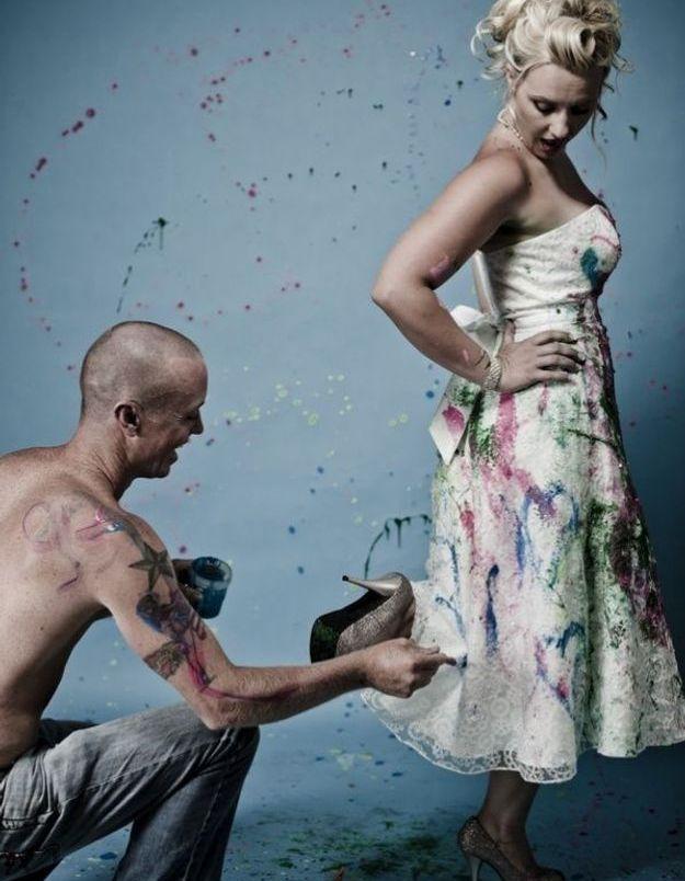 Trash the dress : presque de l'art !