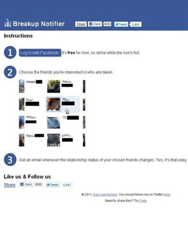 Facebook : qui sera bientôt célibataire ?