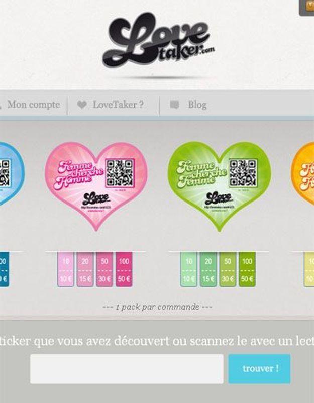 « LoveTaker » : un sticker pour trouver l'amour