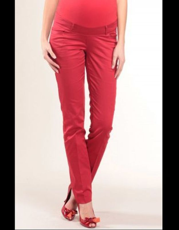 12 Pantalon grossesse slimy rouge