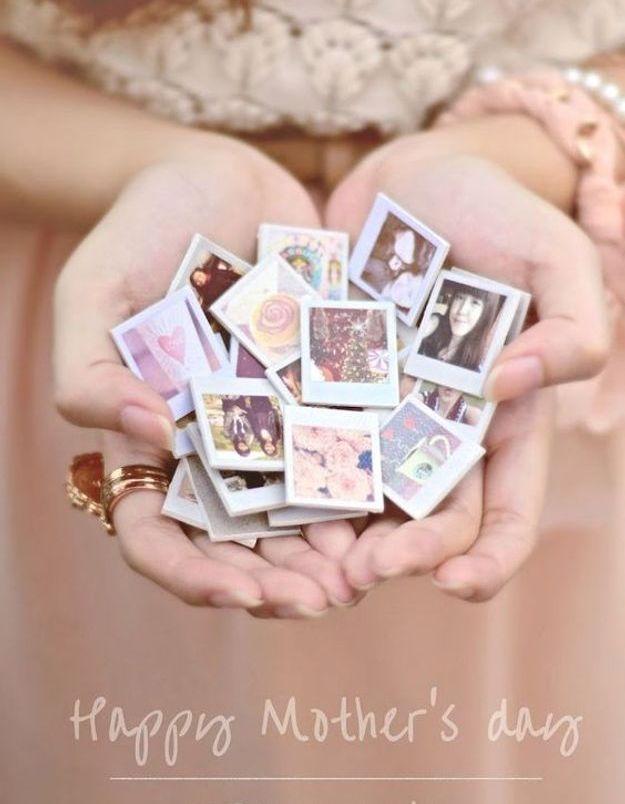 Cadeau fête des mères à faire soi-même : un magnet photo