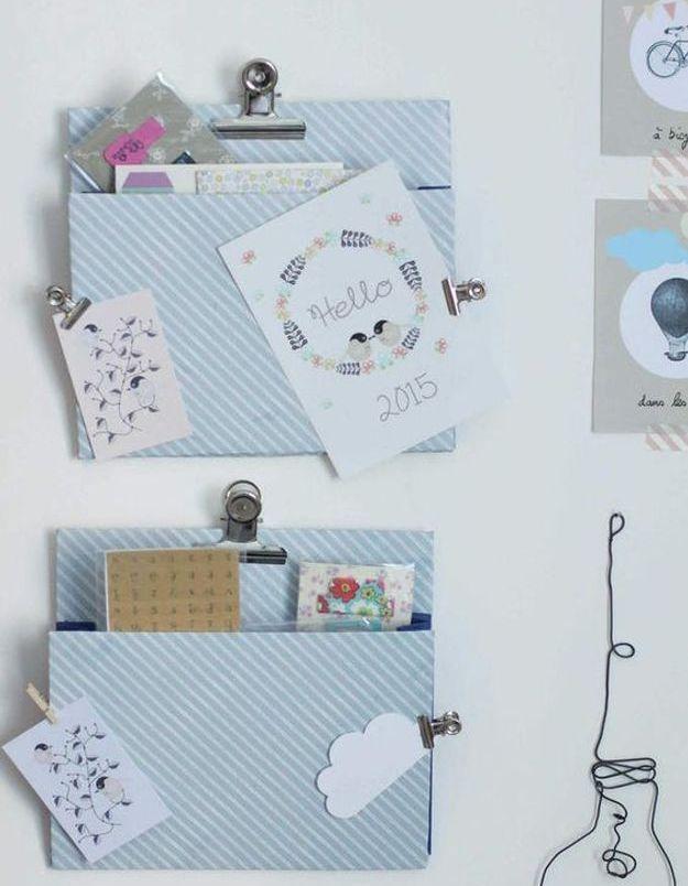 Cadeau fête des mères à faire soi-même : un porte document mural
