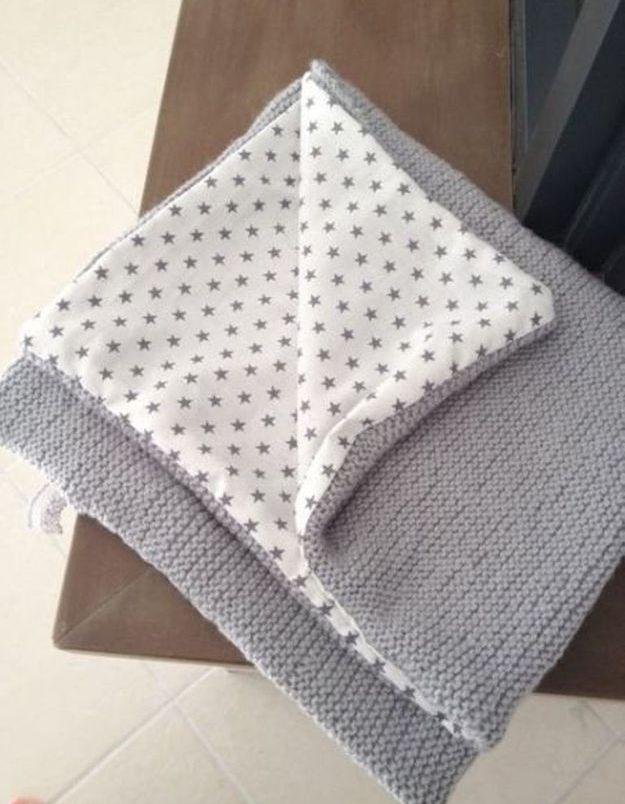 Couverture en tricot