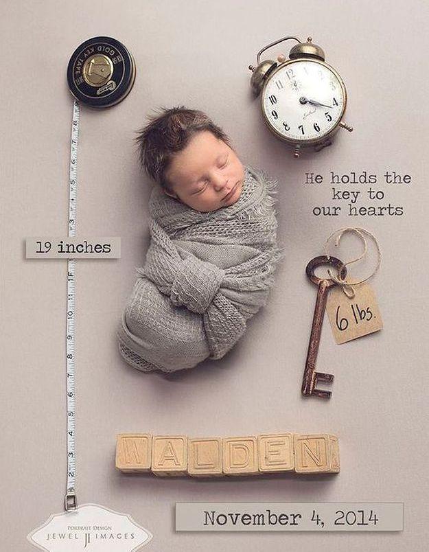 Faire-part de naissance avec une photo