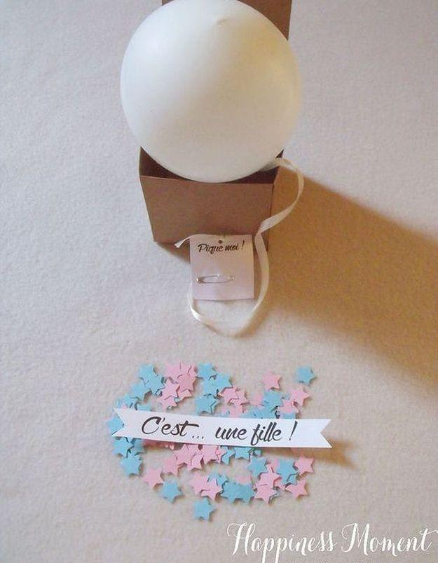 Faire-part de naissance confettis