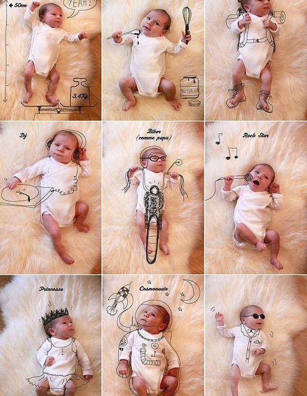 Faire-part de naissance tendance