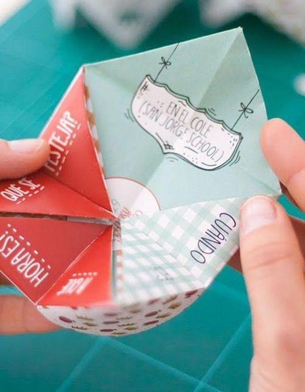 Invitation origami