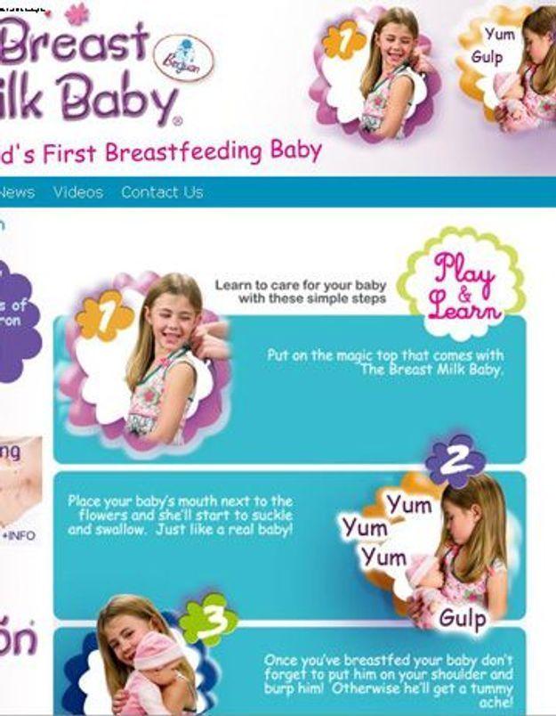 Jouet : une nouvelle poupée à allaiter…