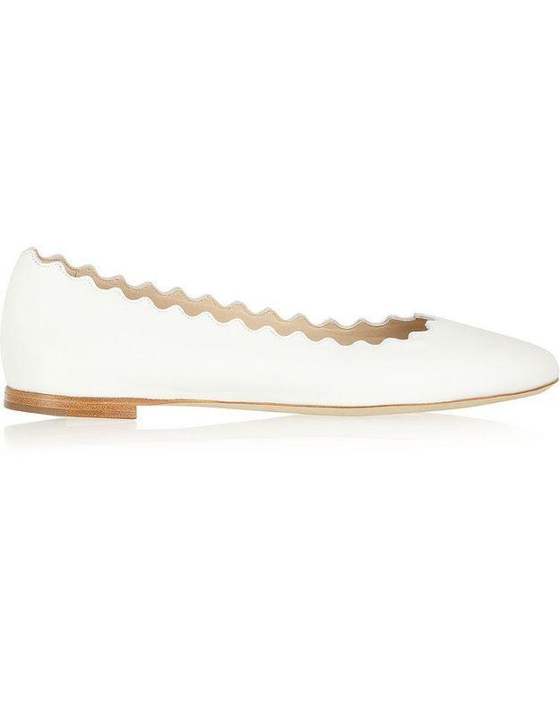 Chaussure de mariée ballerine Chloé printemps été 2015