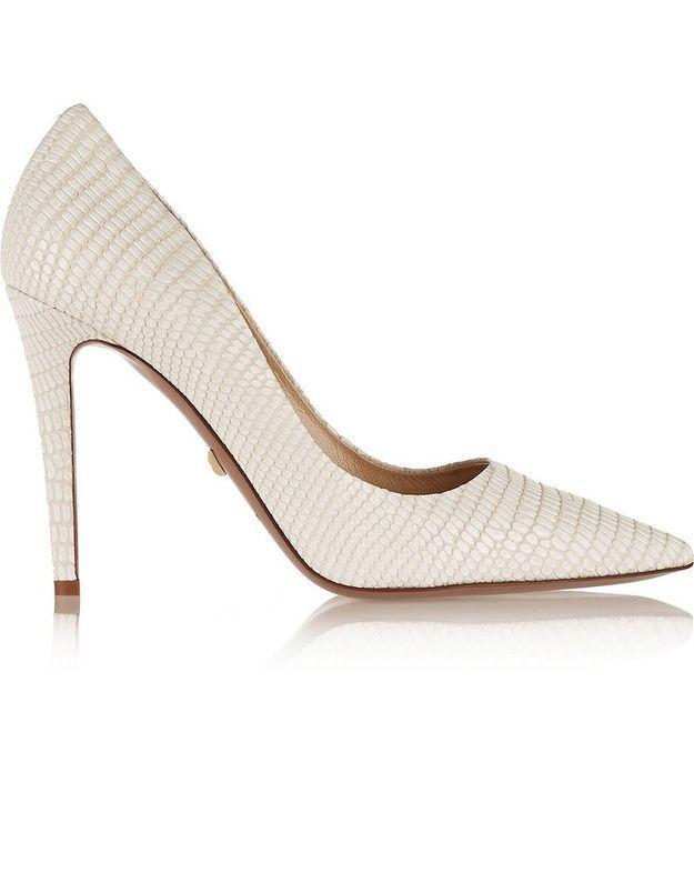 Escarpins en cuir effet lézard Diane von Furstenberg printemps été 2015