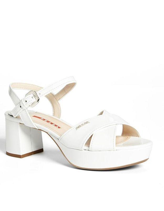 Sandales à talons plateforme Prada printemps été 2015