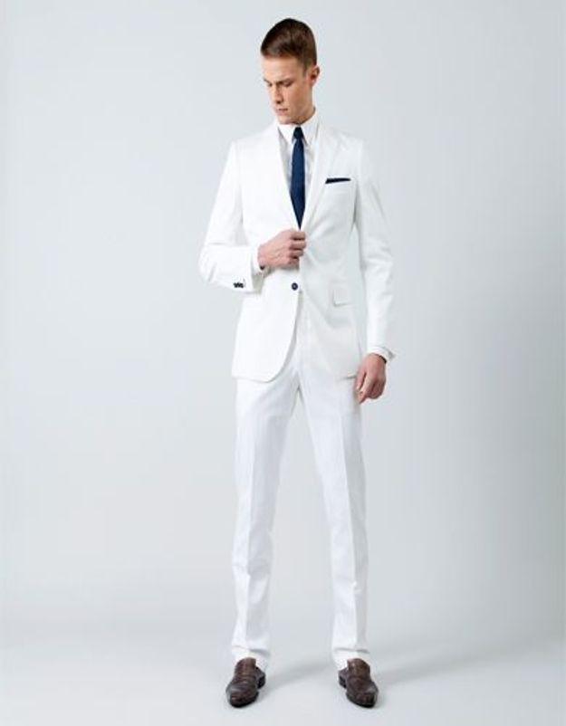 Samson costume mesure blanc
