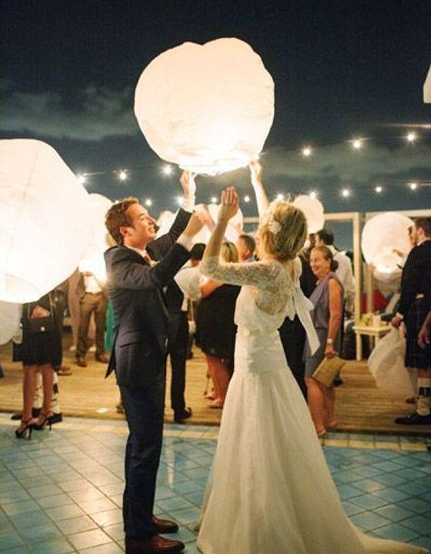 Animation de mariage et  lanternes volantes