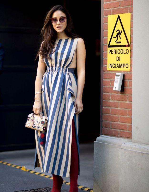 Une robe de plage + des bottes en daim
