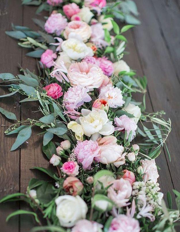 Composition florale chemin de table nos 20 id es de - Table de composition des aliments afssa ...
