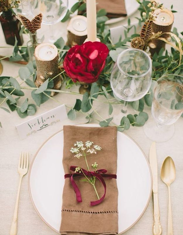 Décoration de table de mariage à faire soi même