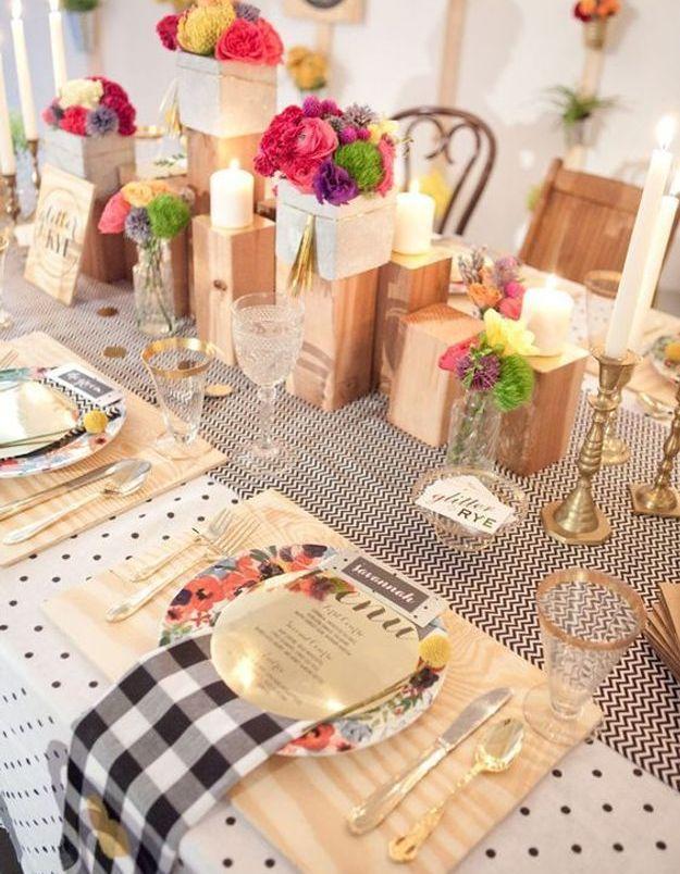 Décoration de table de mariage originale