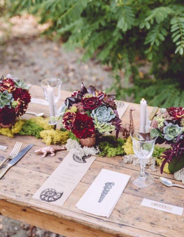Décoration de table de mariage petit prix
