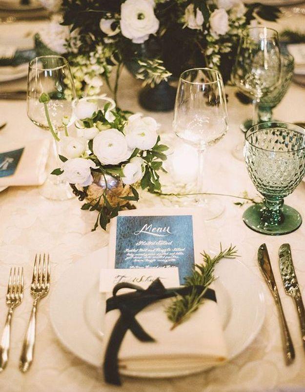 Décoration de table de mariage romantique
