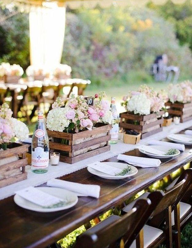 Décoration de table mariage DIY