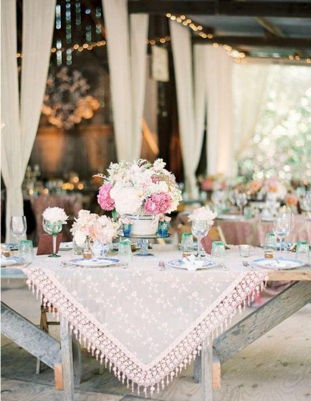 Décoration de table mariage hippie chic