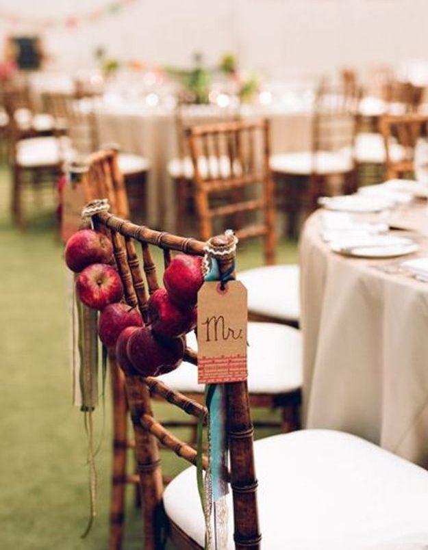 Chaise de mariage automnal