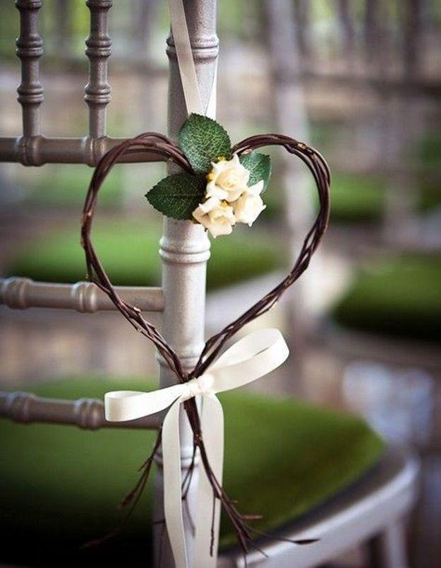 Chaise de mariage avec un cœur