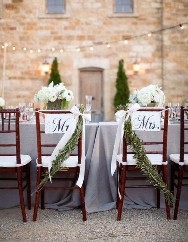 Chaise de mariage champêtre