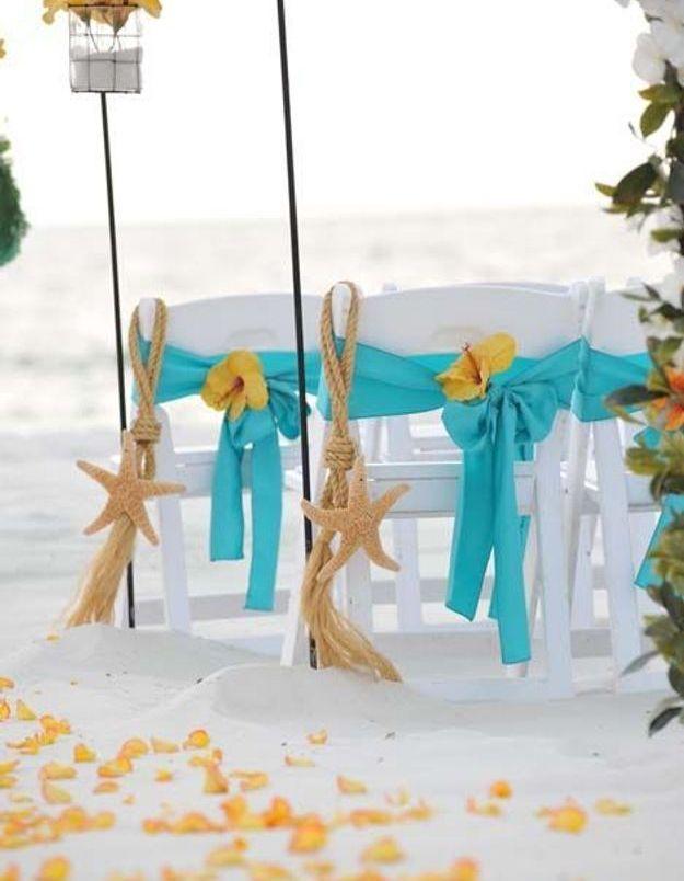 Chaise de mariage étoile de mer